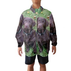 Chocolate Lab Pup Wind Breaker (Kids) by TailWags