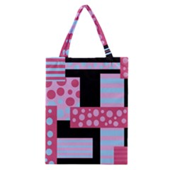 Pink Collage Classic Tote Bag by Valentinaart