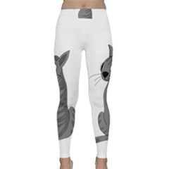 Gray Cat Classic Yoga Leggings by Valentinaart