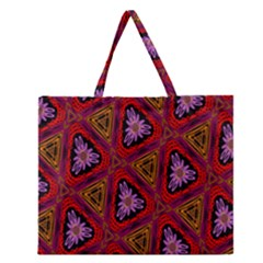 Computer Graphics Graphics Ornament Zipper Large Tote Bag by Zeze