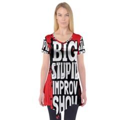 Big Stupid Profile Short Sleeve Tunic  by AnjaniArt