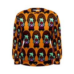 Zombie Woman Fill Orange Women s Sweatshirt by AnjaniArt