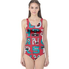 Alpha Monsters One Piece Swimsuit