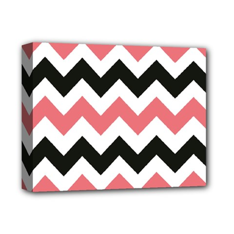 Chevron Crazy On Pinterest Blue Color Deluxe Canvas 14  X 11  by AnjaniArt