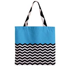Color Block Jpeg Zipper Grocery Tote Bag by AnjaniArt
