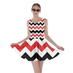 Colored Chevron Printable Skater Dress by AnjaniArt