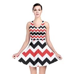 Colored Chevron Printable Reversible Skater Dress by AnjaniArt