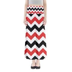Colored Chevron Printable Maxi Skirts by AnjaniArt