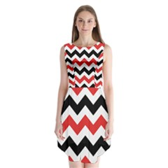 Colored Chevron Printable Sleeveless Chiffon Dress   by AnjaniArt