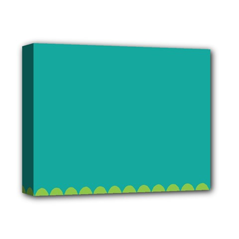 Green Blue Deluxe Canvas 14  X 11  by AnjaniArt