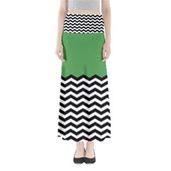Lime Green Chevron Maxi Skirts by AnjaniArt