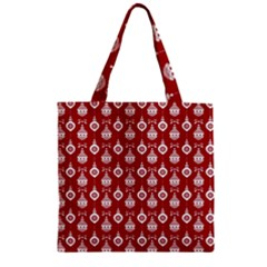 Light Red Lampion Zipper Grocery Tote Bag by AnjaniArt