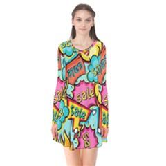 Sale Prise Disc Flare Dress
