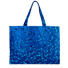 Shattered Blue Glass Zipper Mini Tote Bag by AnjaniArt