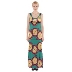 Timing Smart Time Maxi Thigh Split Dress by AnjaniArt