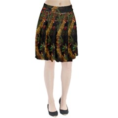 Night Xmas Decorations Lights  Pleated Skirt by Zeze