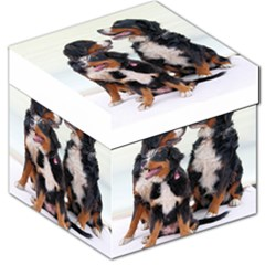 3 Bernese Mountain Dogs Storage Stool 12   by TailWags
