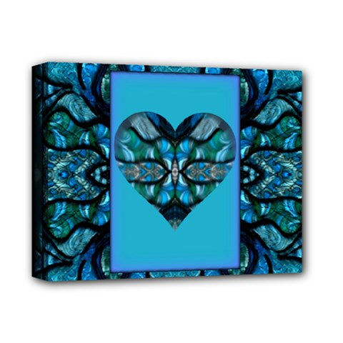 a Whirwind Heart Montage  By Wbk: Deluxe Canvas 14  X 11  (framed) by wbk1