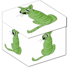 Green cat Storage Stool 12   by Valentinaart
