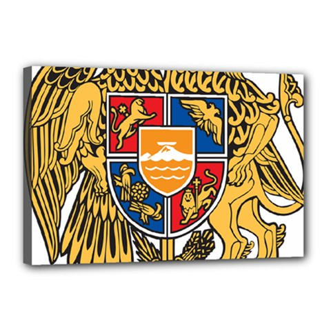 Coat Of Arms Of Armenia Canvas 18  X 12