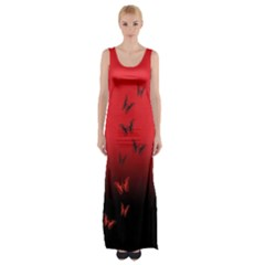 Lepidopteran Maxi Thigh Split Dress