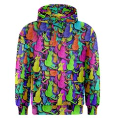 Colorful Cats Men s Pullover Hoodie by Valentinaart