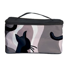 Elegant Cats Cosmetic Storage Case by Valentinaart