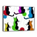 Colorful abstract cats Canvas 16  x 12  View1
