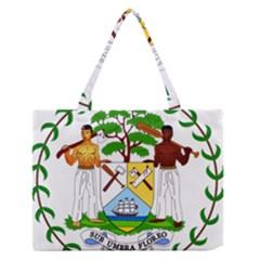 Coat Of Arms Of Belize Medium Zipper Tote Bag by abbeyz71