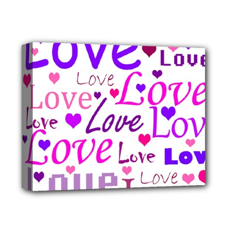Love Pattern Deluxe Canvas 14  X 11  by Valentinaart