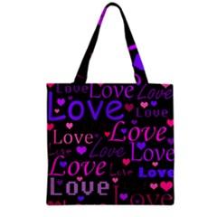 Love Pattern 2 Grocery Tote Bag by Valentinaart