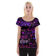 Love Pattern 2 Women s Cap Sleeve Top by Valentinaart
