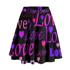 Love pattern 2 High Waist Skirt by Valentinaart