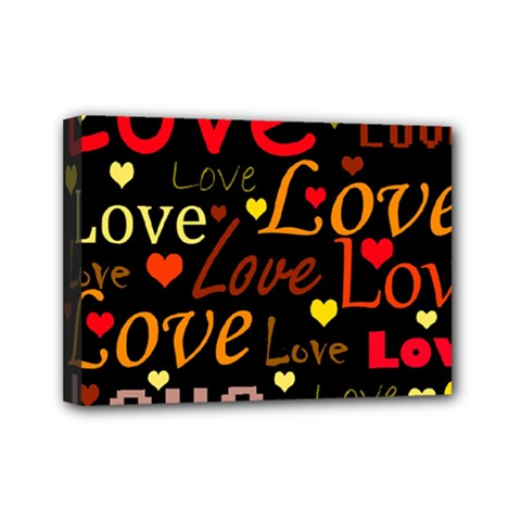 Love Pattern 3 Mini Canvas 7  X 5  by Valentinaart