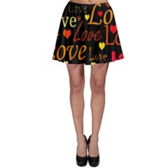 Love Pattern 3 Skater Skirt by Valentinaart