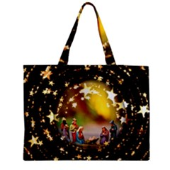 Christmas Crib Virgin Mary Joseph Jesus Christ Three Kings Baby Infant Jesus 4000 Medium Zipper Tote Bag by yoursparklingshop