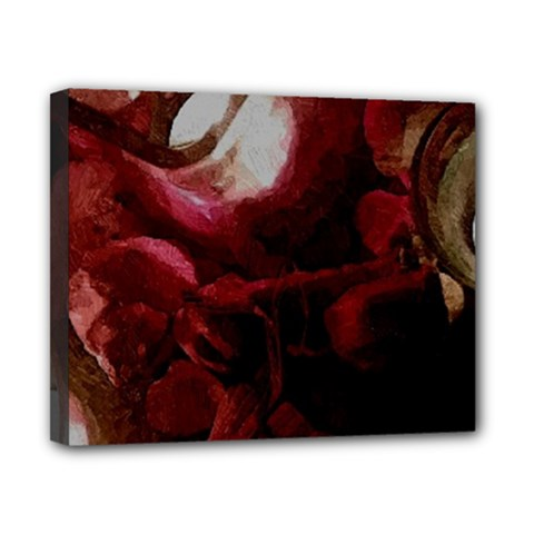Dark Red Candlelight Candles Canvas 10  X 8