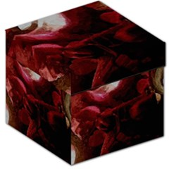 Dark Red Candlelight Candles Storage Stool 12   by yoursparklingshop