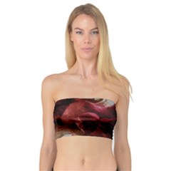 Dark Red Candlelight Candles Bandeau Top by yoursparklingshop