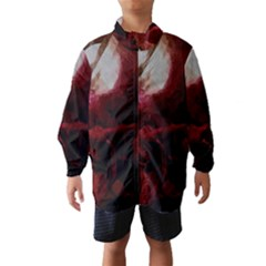 Dark Red Candlelight Candles Wind Breaker (kids) by yoursparklingshop