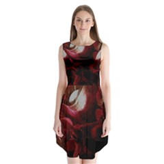Dark Red Candlelight Candles Sleeveless Chiffon Dress   by yoursparklingshop