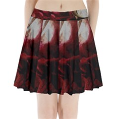 Dark Red Candlelight Candles Pleated Mini Skirt by yoursparklingshop
