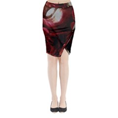 Dark Red Candlelight Candles Midi Wrap Pencil Skirt by yoursparklingshop