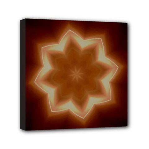 Christmas Flower Star Light Kaleidoscopic Design Mini Canvas 6  X 6  by yoursparklingshop