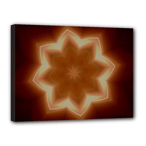 Christmas Flower Star Light Kaleidoscopic Design Canvas 16  X 12  by yoursparklingshop