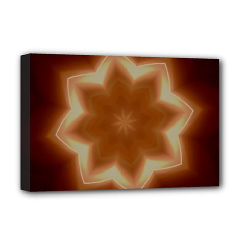 Christmas Flower Star Light Kaleidoscopic Design Deluxe Canvas 18  X 12   by yoursparklingshop