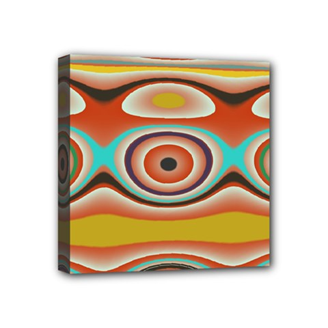 Oval Circle Patterns Mini Canvas 4  X 4  by theunrulyartist