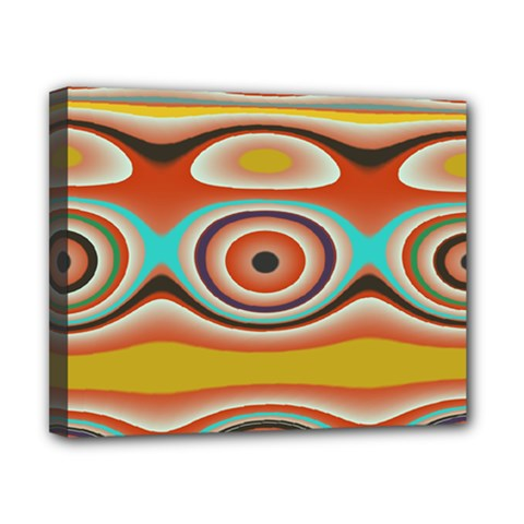 Oval Circle Patterns Canvas 10  X 8  by theunrulyartist