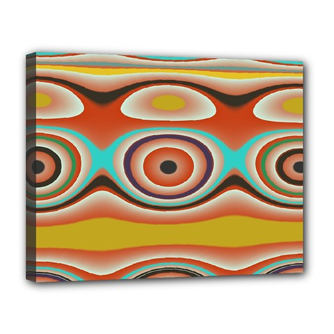 Oval Circle Patterns Canvas 14  X 11  by theunrulyartist