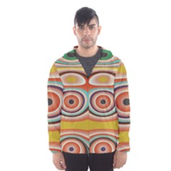 Oval Circle Patterns Hooded Wind Breaker (men) by theunrulyartist